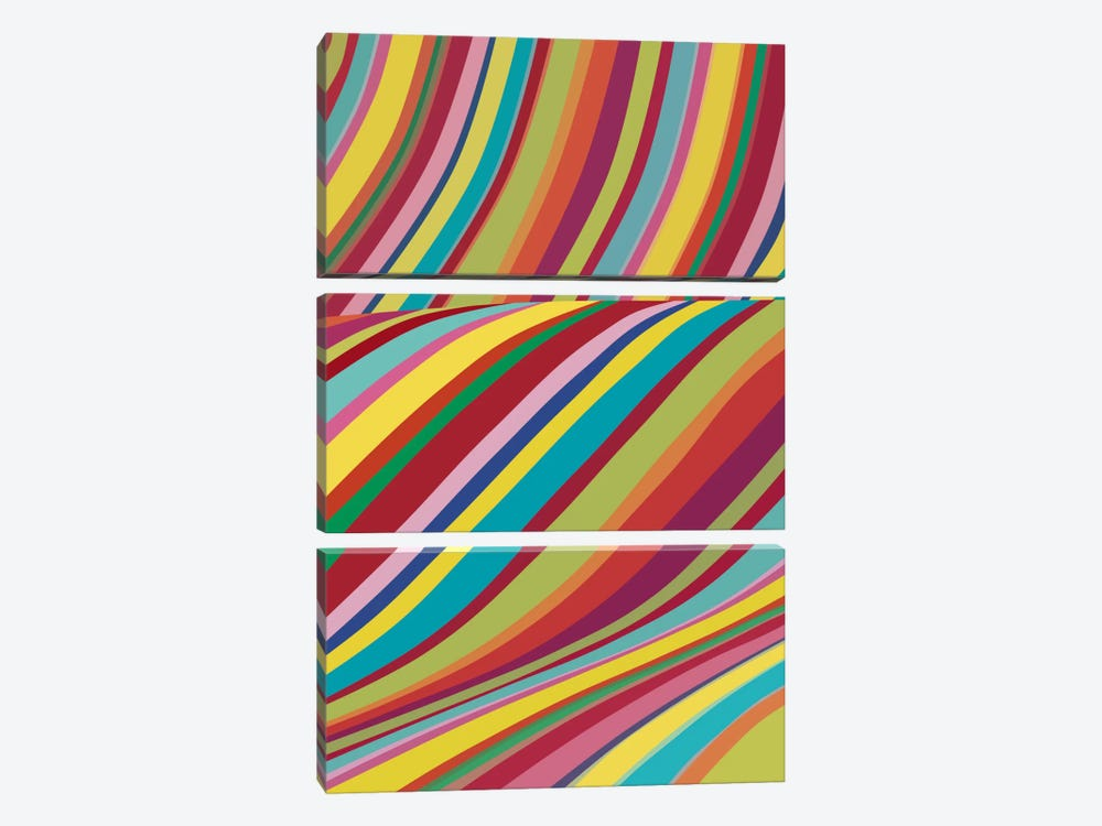 Joyride by The Usual Designers 3-piece Canvas Wall Art