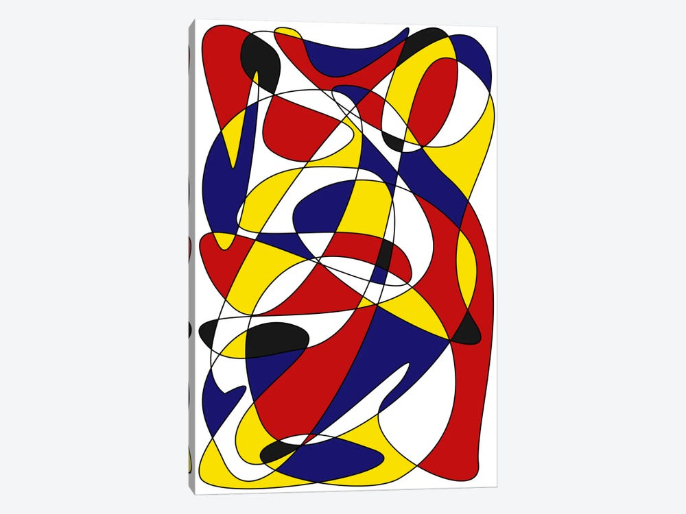 Mondrian And Gauss by The Usual Designers 1-piece Canvas Print