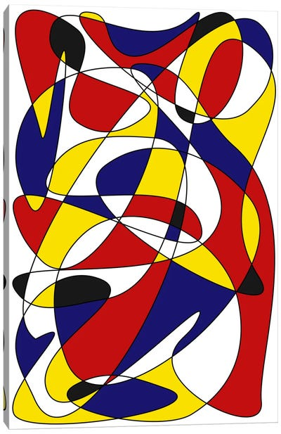 Mondrian And Gauss Canvas Print #USL57