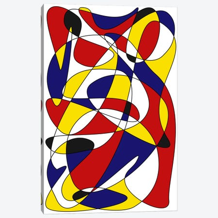 Mondrian And Gauss Canvas Print #USL57} by The Usual Designers Canvas Wall Art