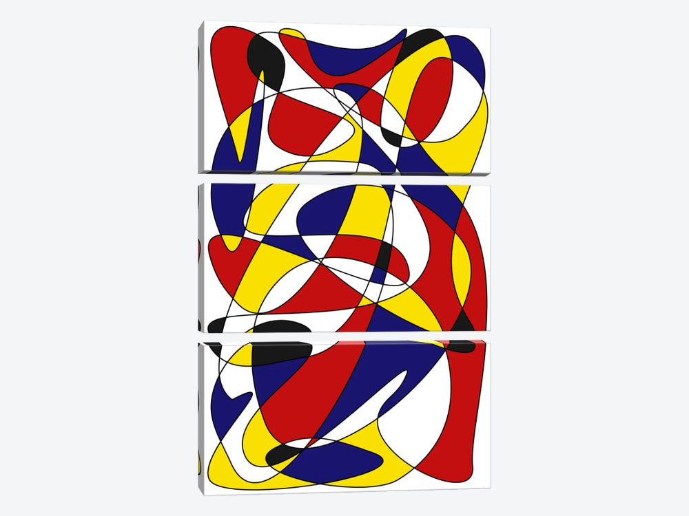 Mondrian And Gauss by The Usual Designers 3-piece Art Print