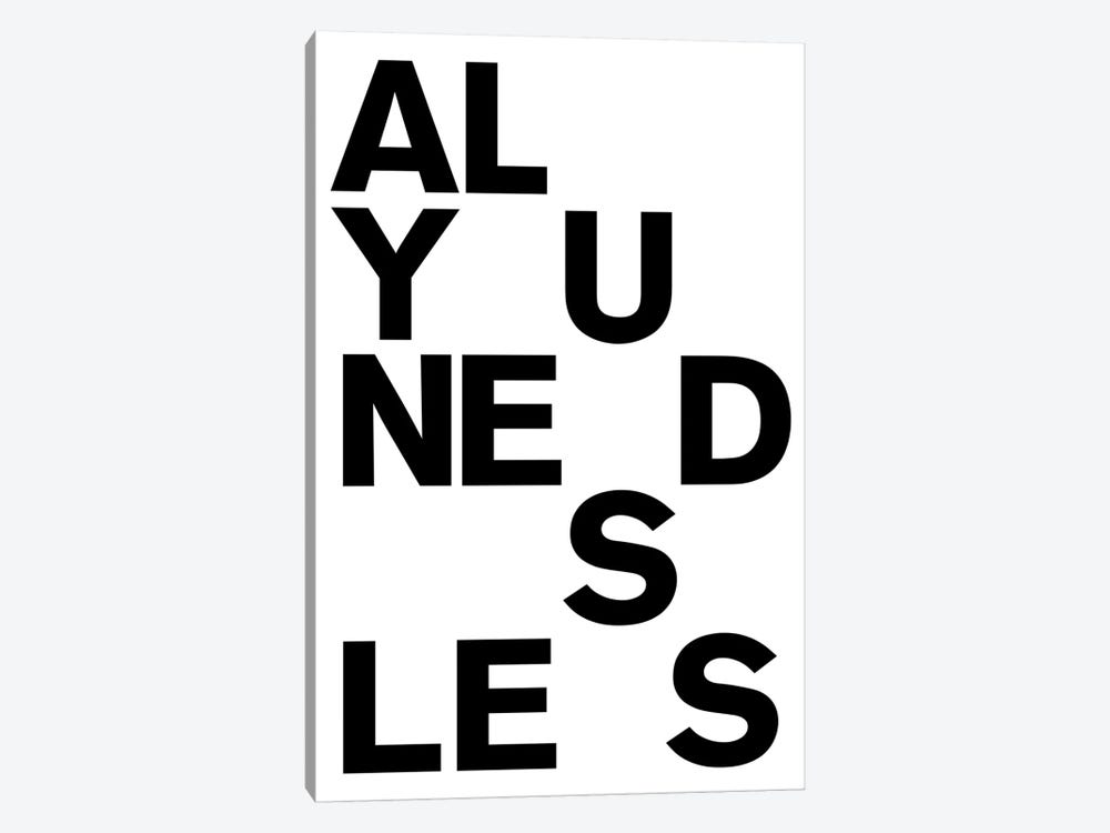 All You Need Is by The Usual Designers 1-piece Canvas Print