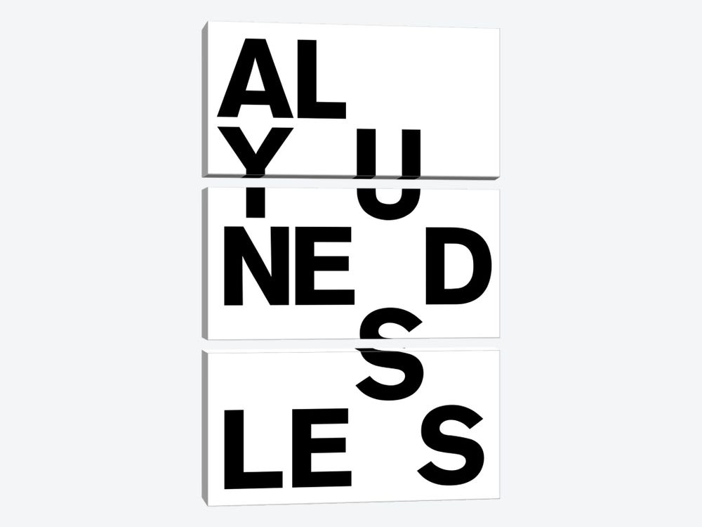 All You Need Is by The Usual Designers 3-piece Art Print