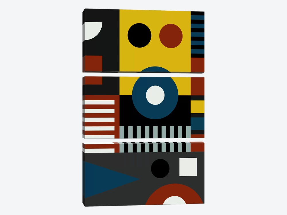 Speech At The Bauhaus by The Usual Designers 3-piece Art Print
