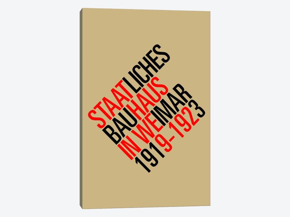 Staatliches Bauhaus II by The Usual Designers 1-piece Canvas Art Print