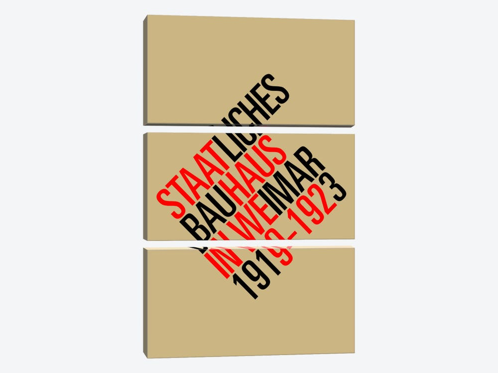 Staatliches Bauhaus II by The Usual Designers 3-piece Canvas Art Print