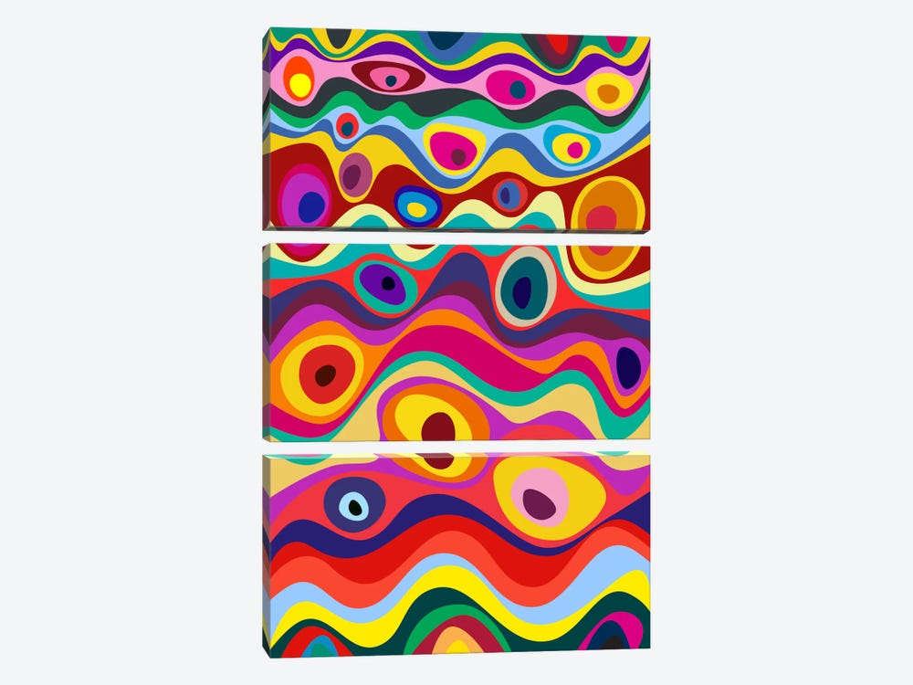 Strata by The Usual Designers 3-piece Canvas Print