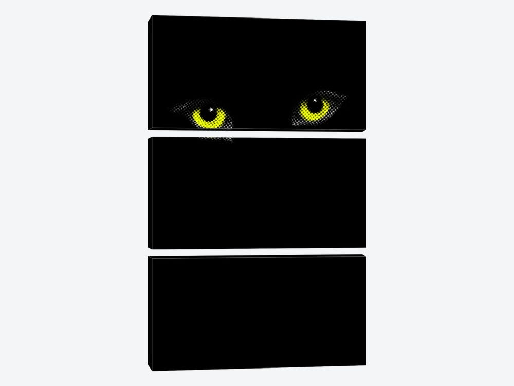 The Face Of The Soul by The Usual Designers 3-piece Canvas Print