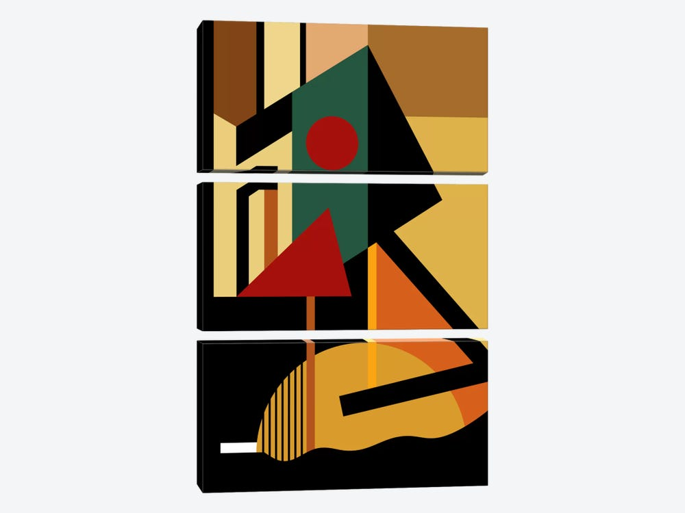 The Geometrist by The Usual Designers 3-piece Canvas Art Print