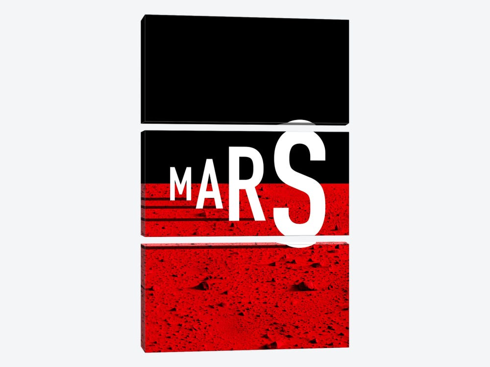 To Mars by The Usual Designers 3-piece Canvas Art