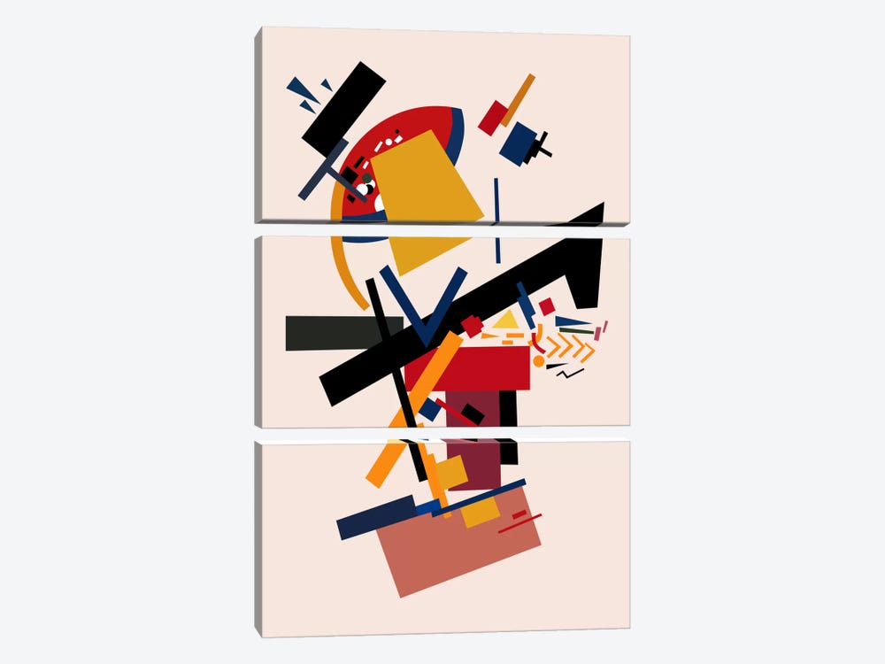 Too Many Thoughts by The Usual Designers 3-piece Art Print