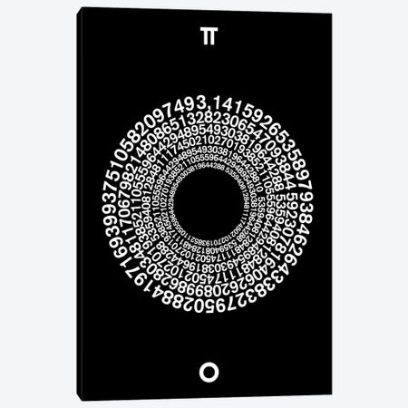 Transcendence Of Pi Canvas Print #USL87} by The Usual Designers Art Print