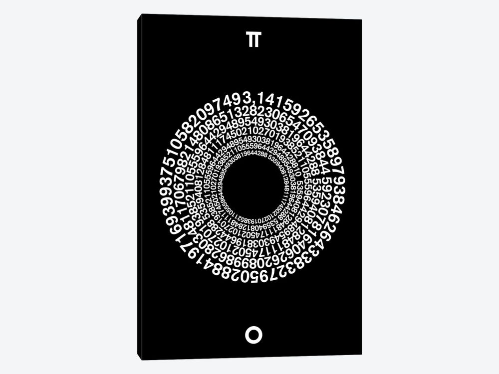 Transcendence Of Pi by The Usual Designers 1-piece Canvas Art