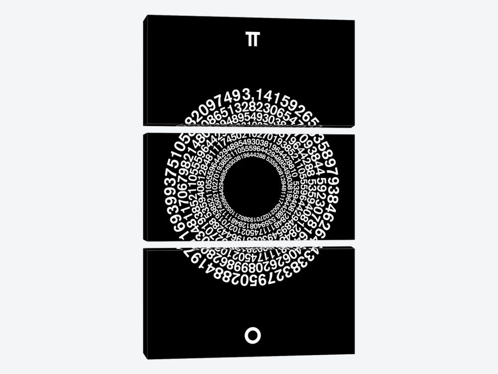 Transcendence Of Pi by The Usual Designers 3-piece Canvas Art