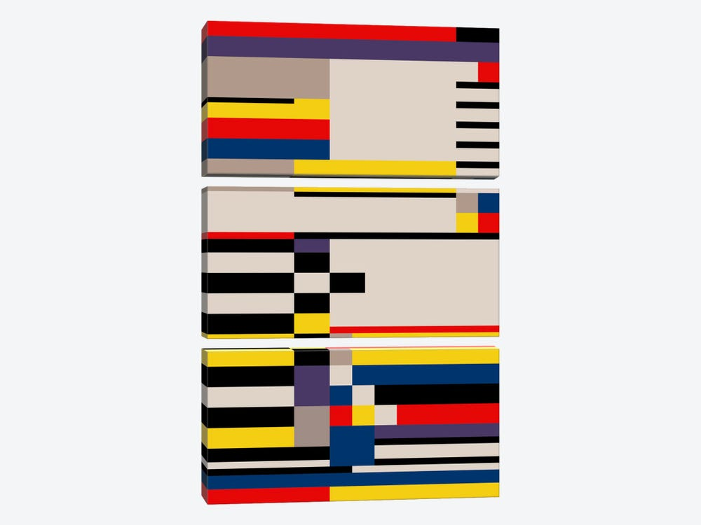 Asymmetry by The Usual Designers 3-piece Canvas Art