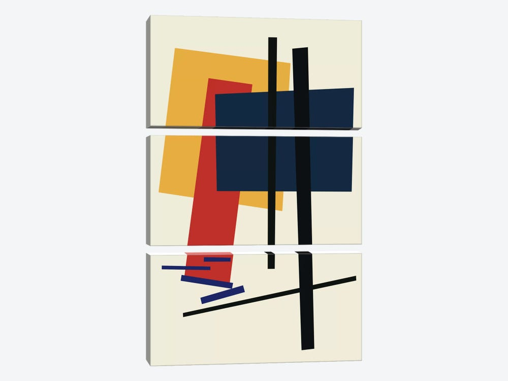 Tribute To Malevich by The Usual Designers 3-piece Canvas Artwork