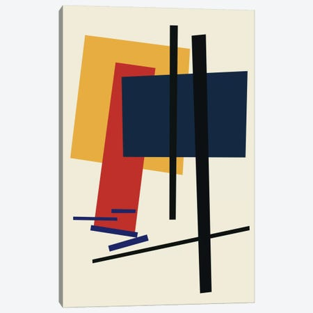 Tribute To Malevich Canvas Print #USL90} by The Usual Designers Canvas Art Print