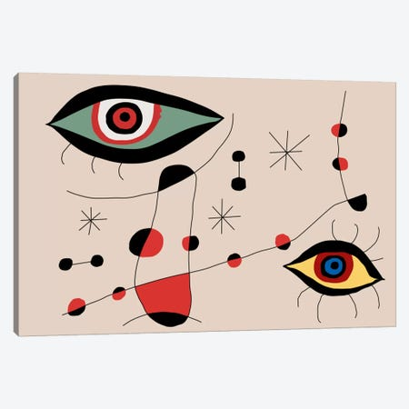 Tribute To Miro Canvas Print #USL91} by The Usual Designers Canvas Art Print