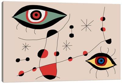 Tribute To Miro Canvas Art Print
