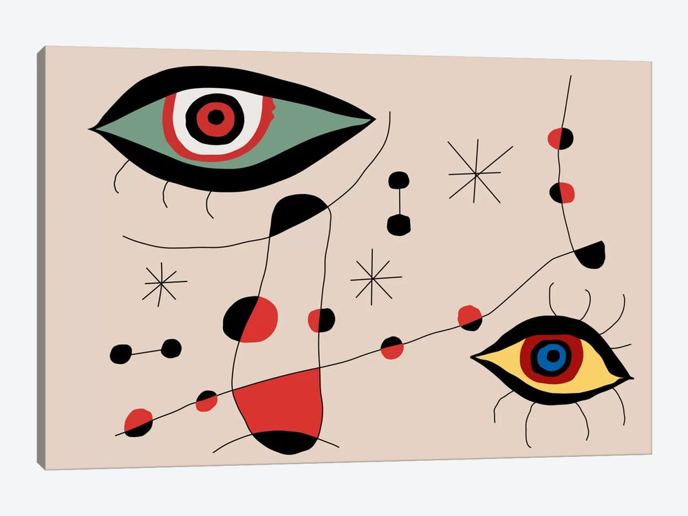 Tribute To Miro by The Usual Designers 1-piece Canvas Print