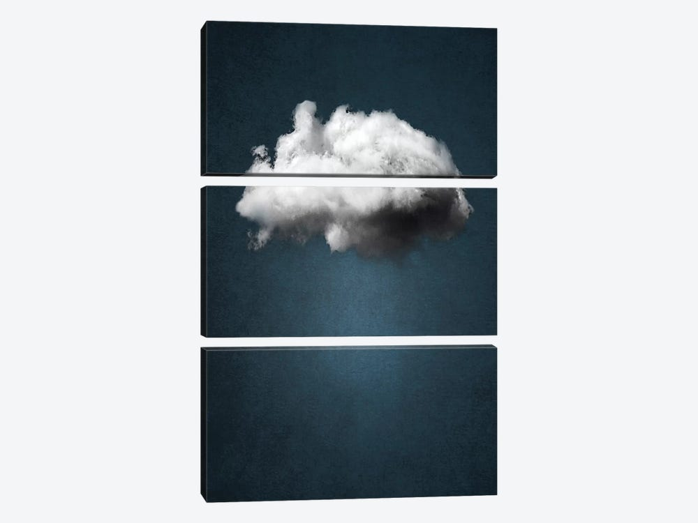 Waiting Magritte by The Usual Designers 3-piece Canvas Artwork