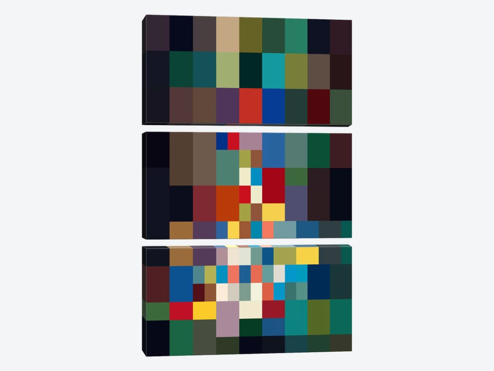 Athwart by The Usual Designers 3-piece Canvas Print