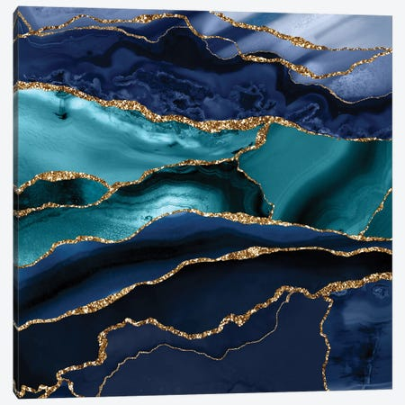Glamour Marble Canvas Print #UTA105} by UtArt Canvas Artwork