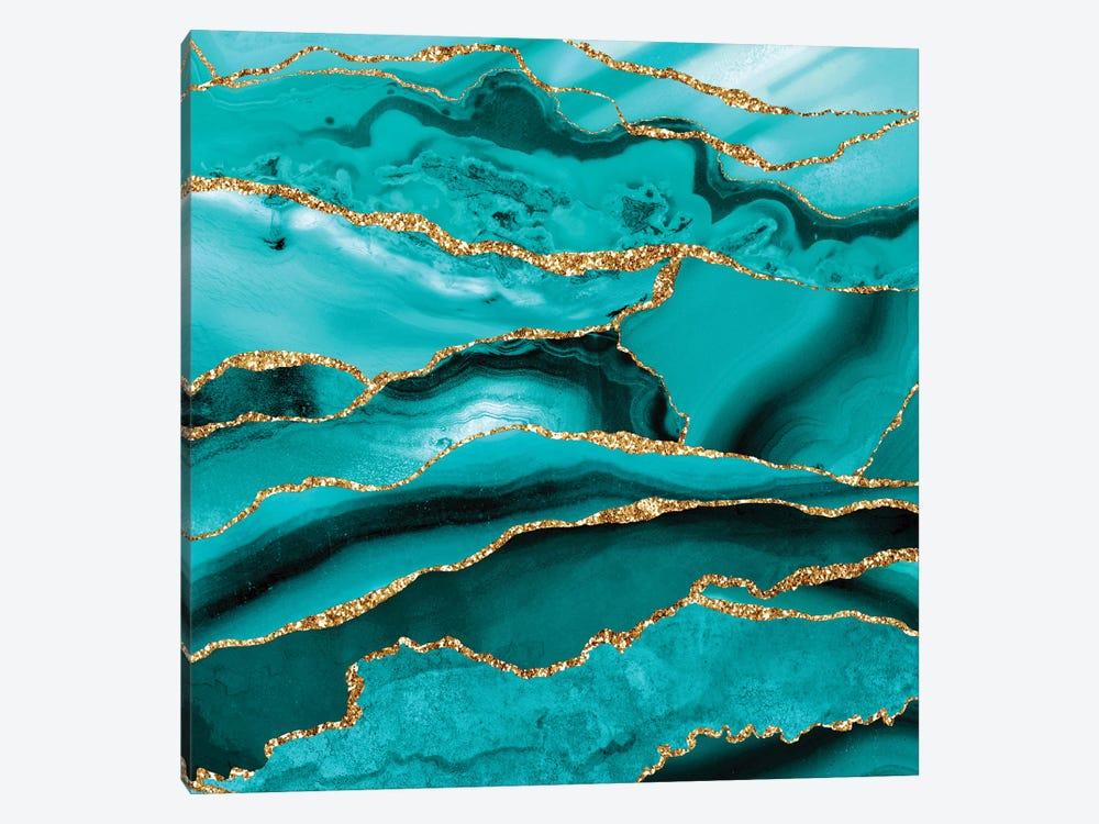 Iceberg Marble by UtArt 1-piece Canvas Wall Art