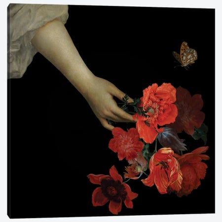 Jan Davidsz De Heem Hand With Poppy Flowers I Canvas Print #UTA125} by UtArt Canvas Wall Art