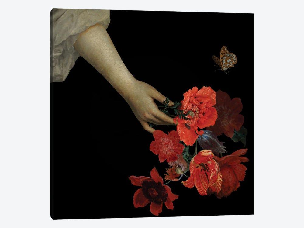 Jan Davidsz De Heem Hand With Poppy Flowers I by UtArt 1-piece Canvas Art Print