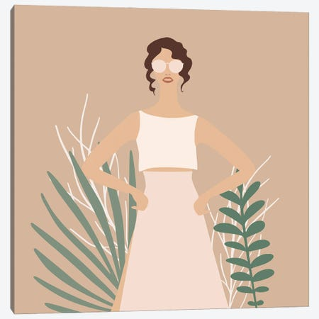 Modern Exotic Girl III Canvas Print #UTA166} by UtArt Canvas Art