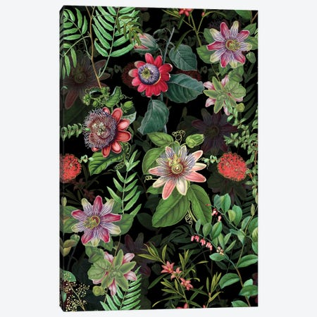 Night Exotic Garden Canvas Print #UTA172} by UtArt Canvas Wall Art
