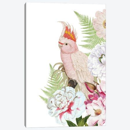 Parrot In Flower Jungle Canvas Print #UTA176} by UtArt Art Print