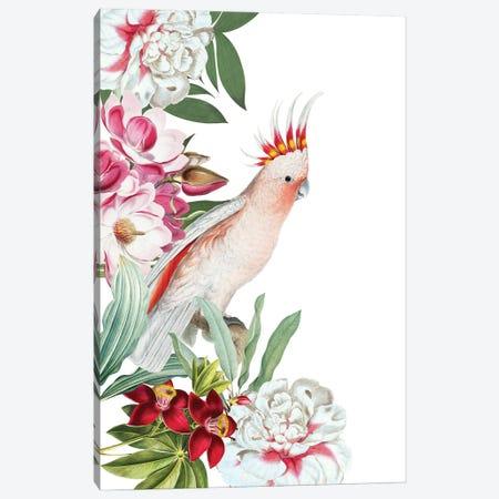 Parrot In Flower Jungle Canvas Print #UTA177} by UtArt Art Print