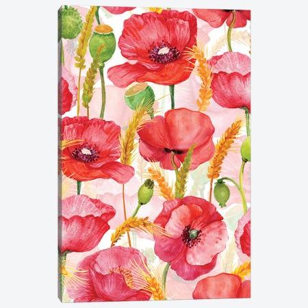 Poppyfield Forever Canvas Print #UTA187} by UtArt Canvas Art