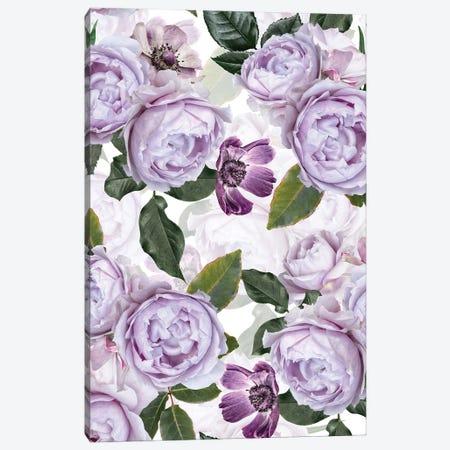 Purple Real Roses Canvas Print #UTA193} by UtArt Canvas Wall Art