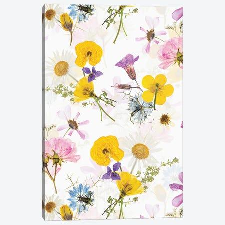 Real Dried Scandi Midsummer Flowers Meadow Canvas Print #UTA200} by UtArt Canvas Art