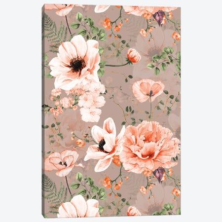 Spring Modern Poppy Peony Garden I Canvas Print #UTA212} by UtArt Art Print