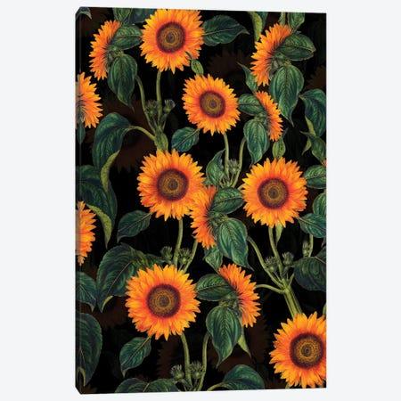 Sunflowers Night Garden Canvas Print #UTA214} by UtArt Canvas Art