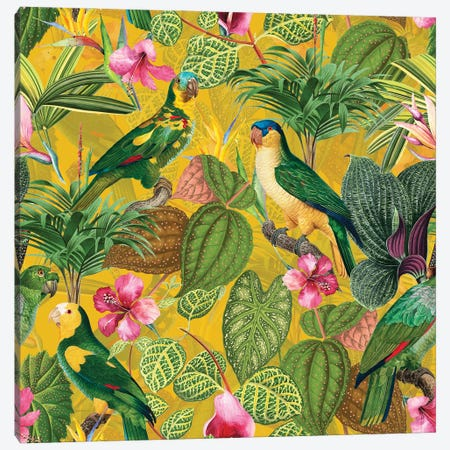 Tropical Bird Garden Canvas Print #UTA218} by UtArt Art Print