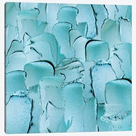 Turquoise Hand Painted Metallic Strokes Canvas Print #UTA220} by UtArt Canvas Art