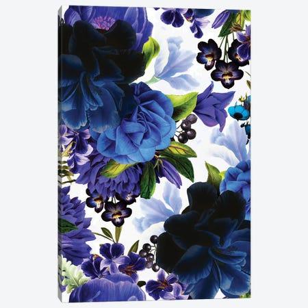 Vintage Blue Roses Canvas Print #UTA222} by UtArt Canvas Artwork