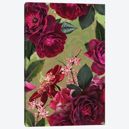 Vintage Summer Botanical Roses Garden Canvas Print #UTA229} by UtArt Canvas Artwork