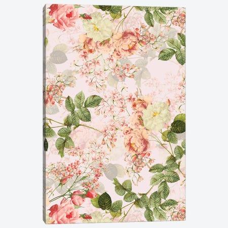 Vintage Summer Redouté Rose Blossoms Garden Canvas Print #UTA230} by UtArt Canvas Art Print