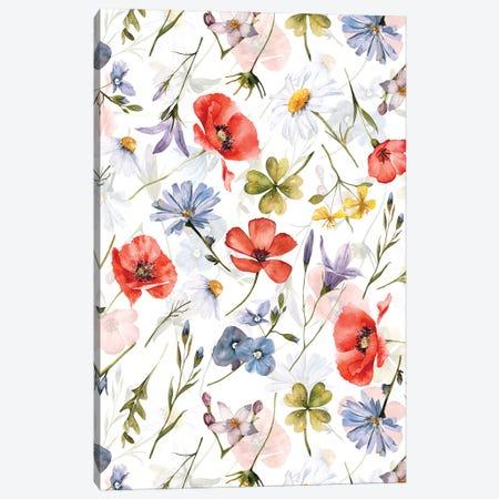 Poppies And Cornflowers Scandinavian Midsummer Meadow Canvas Print #UTA257} by UtArt Canvas Art