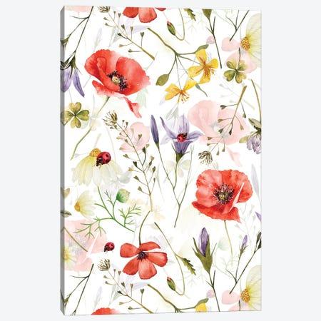 Scandinavian Midsummer Herbs And Wildflowers Meadow Canvas Print #UTA258} by UtArt Canvas Print