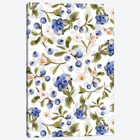 Scandinaviascandinavian Midsummer Blueberry Meadow Canvas Print #UTA259} by UtArt Canvas Print