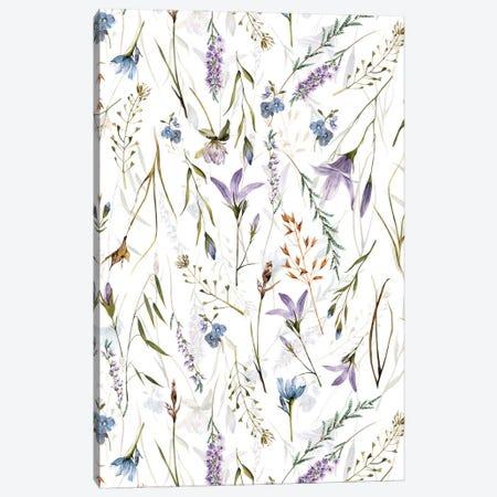 Scandinavian Midsummer Wildflowers And Herbs Meadow Canvas Print #UTA261} by UtArt Canvas Art