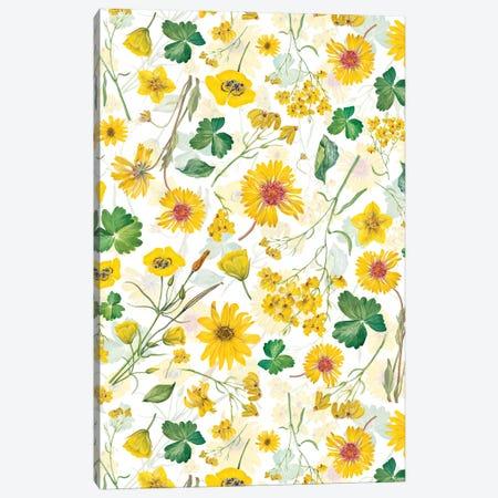 Scandinavian Midsummer Yellow Wildflowers Meadow Canvas Print #UTA262} by UtArt Canvas Wall Art