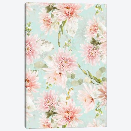 Blush Pastel Summer Chrysantems Canvas Print #UTA263} by UtArt Canvas Wall Art